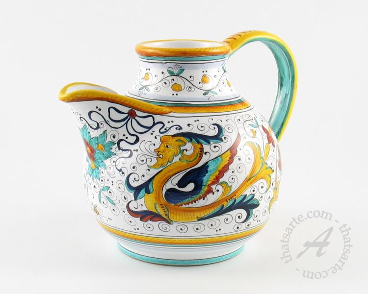 Italian ceramics - Raffaellesco tuscan pitcher by FIMA (Deruta)